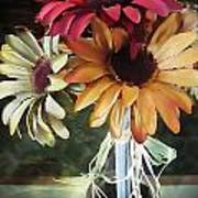 Flowers Water Ripples Art Print
