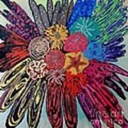 Flowers Burst By Jasna Gopic Art Print