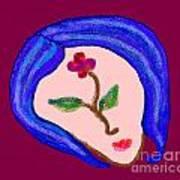 Flowerwoman Art Print