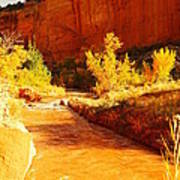 Flowing From Capital Reef Art Print