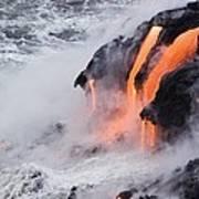 Flowing Pahoehoe Lava Art Print