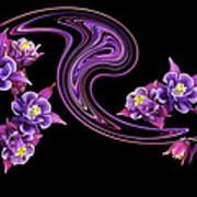 Flowing Purple Velvet 2 Art Print