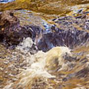 Flowing River Rapids Art Print