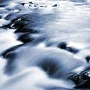 Flowing Stream Art Print by Les Cunliffe