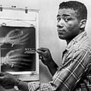 Floyd Patterson Looking At X Ray Art Print