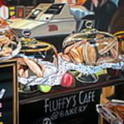 Fluffy's Cafe Art Print