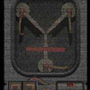 Flux Capacitor Mosaic Art Print