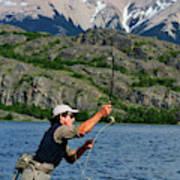 Fly Fishing In Patagonia Art Print