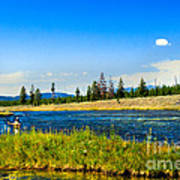 Fly Fishing In Yellowstone Art Print