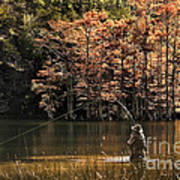 Fly Fishing  Art Print by Tamyra Ayles