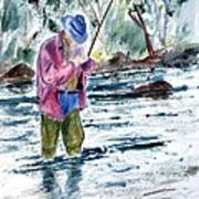 Fly Fishing The South Platte River Art Print