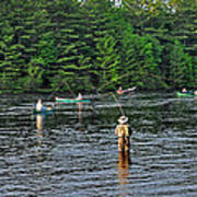 Fly Fishing West Penobscot River Maine Art Print
