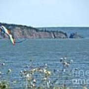 Flying A Kite On The East Coast Art Print