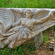 Flying Angel In Ephesus-turkey Art Print