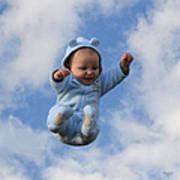 Flying Baby Art Print