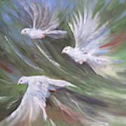Flying Birds Art Print by Paula Marsh