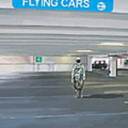 Flying Cars to the Right Art Print