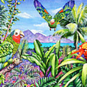 Flying Colours Art Print by Carolyn Steele