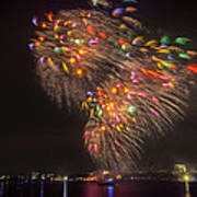 Flying Feathers Of Boston Fireworks Art Print