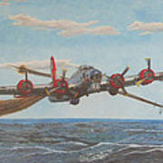Coming Home - Boeing B-17 Flying Fortress Art Print