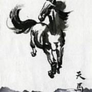 Flying Horse Art Print