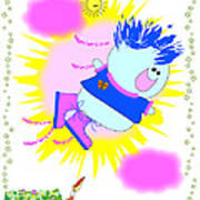 Flying In My Magic Shoes Art Print