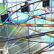 Flying Inside Ferris Wheel Art Print by Luther Fine Art