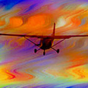 Flying Into A Rainbow Art Print