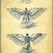 Flying Machine Patent Drawing-vintage Art Print