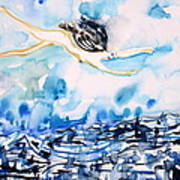 Flying Over Troubled Waters Art Print