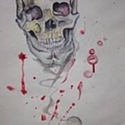 Flying Skull Art Print by Erik Franco