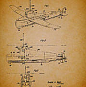Flying Submarine Patent Art Print