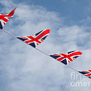 Flying The Union Jack Art Print