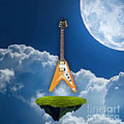 Flying V Guitar Art Print