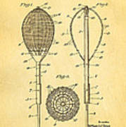 Flynn Merion Golf Club Wicker Baskets Patent Art 1916 Art Print