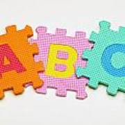 Foam Alphabet Shapes Art Print