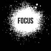 Focus Poster Black Art Print