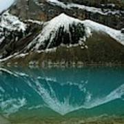 Fog Has Lifted From Lake Louise Art Print