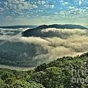 Fog In The Grand View Valley Art Print
