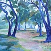 Fog Under The Oaks Art Print