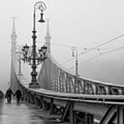 Foggy Day In Budapest Art Print