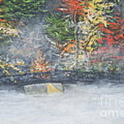 Foggy Fall Lake Art Print