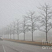 Foggy January Art Print
