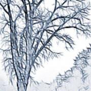 Foggy Morning Landscape - Fractalius 2 Art Print
