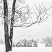Foggy Morning Landscape - Fractalius 5 Art Print by Steve Ohlsen