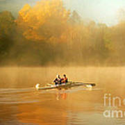 Foggy Morning On The Chattahoochee Art Print by Darren Fisher