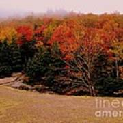 Foggy Mountain Landscape Art Print