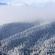 Foggy Peak Art Print