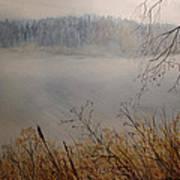 Foggy River Art Print