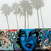 Foggy Venice Beach Art Print